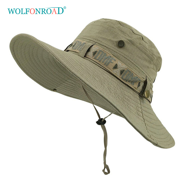 b2170ce227e WOLFNROAD Army Men Tactical Sniper Hats Sun Boonie Hat Summer UV Protection  Cap Men s Military Fishing