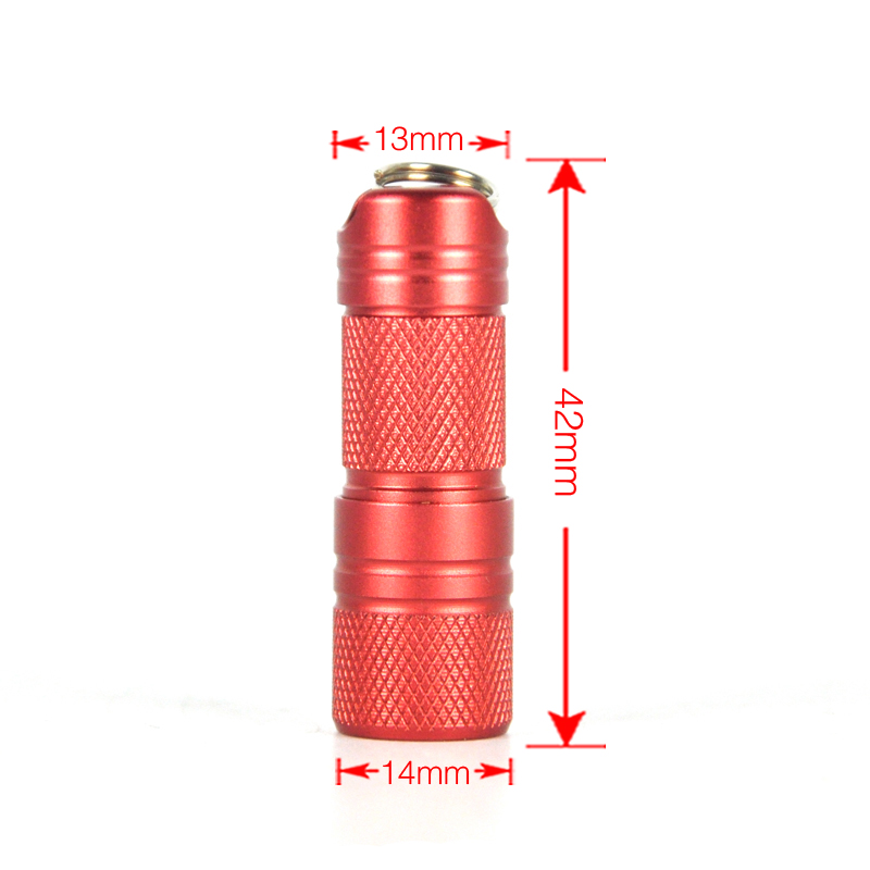 BORUiT Mini Aluminum XPE LED Flashlight USB Rechargeable Portable Torch Light Camping Hunting Lamp Built-in Battery with Box