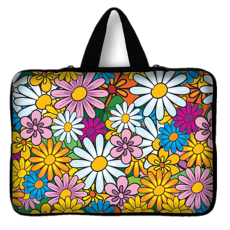 15.6 Inch Soft Laptop Sleeve Universal Flowers Notebook Case Bag Portable Pouch Cover fo ...