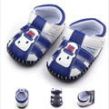 New Fashion PU Leather Infant Toddler Handsome Classic Casual Summer Baby Boy First Walkers Crib Babe Soft Soled Outdoor Shoes
