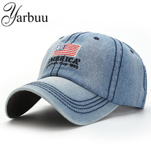 YARBUU Baseball caps 2017 new fashion jean cap for men and women high quality casual hat Letter embroidery hats free shipping
