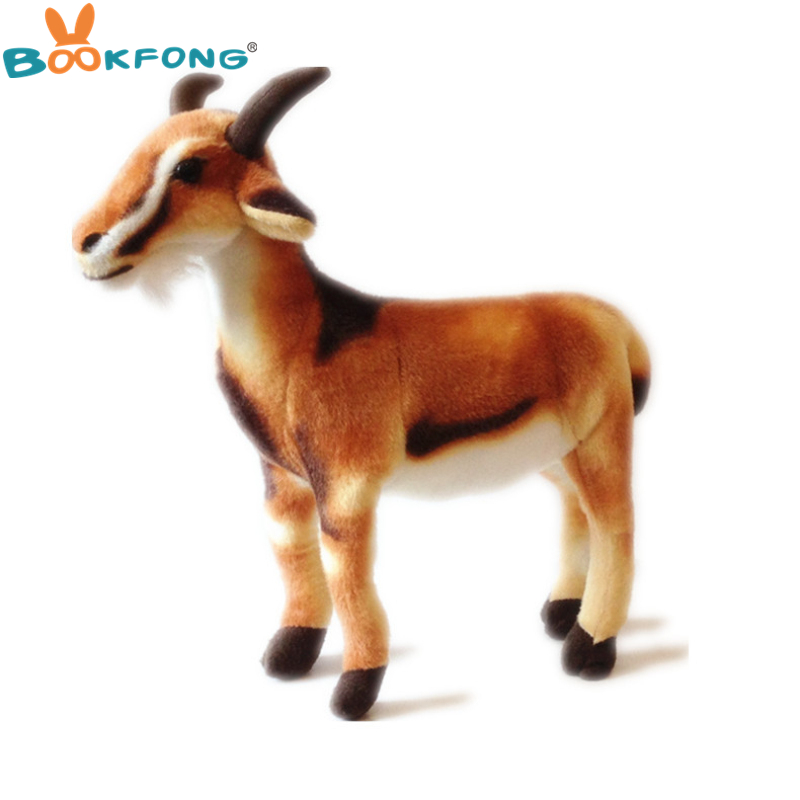 BOOKFONG Grande taille 50 cm simulation animal belle permanent de chèvre moutons en peluche jouet décoration prop jouet cadeau