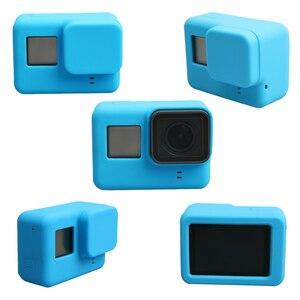 Image 3 - Lbkafa移動プロアクセサリー8色カメラケース保護シリコンケース皮膚 + レンズキャップカバー移動プロヒーロー5ヒーロー6カメラ