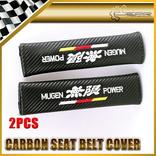 Автомобиль для укладки 2 шт./пара Для Honda Mugen Углерода Ремень безопасности Обложка Универсальный JDM