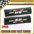 Car-styling 2 unids/par Para Honda Mugen Carbon Cubierta Del Cinturón de seguridad Universal JDM