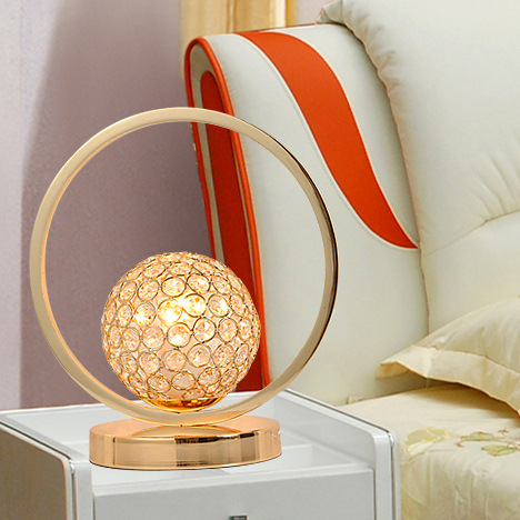 Modern Led Table Lamp Crystal Can Be Adjusted To The Light Of Art Bedside Bedroom Study simple fashion table desktop is mdf fine processing the leg of the table is made of solid beech black and white can be chosen