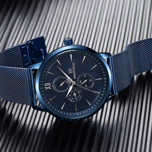 Image 5 - New Luxury NAVIFORCE Brand Mens Casual Watches 24Hour Luminous Hands Fashion Mesh Band Sport Quartz Watch Men Relogio Masculino