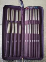 Sewing Needles Ring Needles Crochet Hooks Stainless Straight Needles Set Knit Weave Stitches Knitting Craft Case