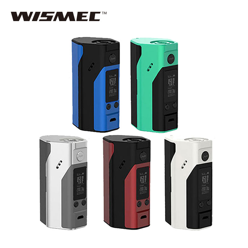 100% Original Wismec Reuleaux RX200S TC 200W MOD Vape Upgraded wismec reuleaux rx200 VW/TC Mode rx 200 box mod NO 18650 Battery стоимость