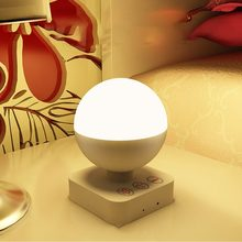 New Portable Night Light Universal Home Lamp ABS Smart Bedside Lamp Universal LED Desktop Lamp Durable Home Decor Sale(China)