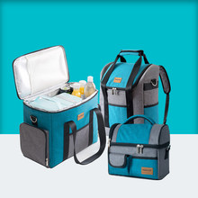 Large Capacity Cooler Bags Oxford Lunch Box Drink Beer Ice Pack Travel Picnic Backpack Thermal Food Delivery Bag Carrier