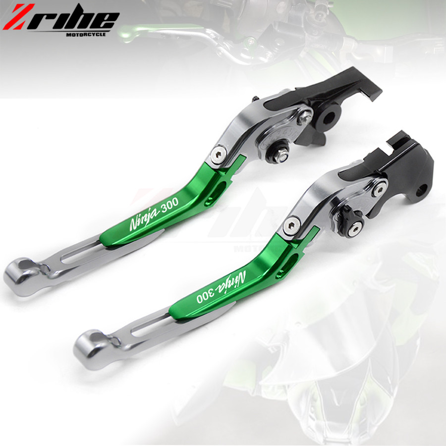 For Kawasaki NINJA 300R 2013-2016 motorcycle brake clutch levers Folding Extendable Adjustable CNC Aluminum Brakes Clutch Levers billet alu folding adjustable brake clutch levers for motoguzzi griso 850 breva 1100 norge 1200 06 2013 07 08 1200 sport stelvio