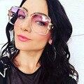 2017 new mujeres big square gafas de sol de las mujeres de alta calidad de la marca de moda Gafas de sol para Los Hombres Gafas de sol Mujeres o Señoras D estilo