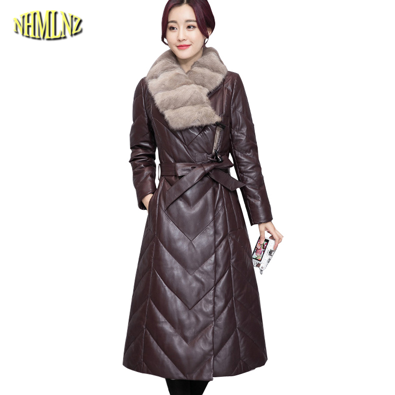 2017 New Winter Women Jacket High quality Fashion Fur collars Cotton coat European style Solid color Warm Female Outerwear WK322 2014 new european and american style high collar coat fur clothing brand men s fashion casual plaid cotton jacket