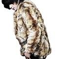 Тигр цвет меха мужчины теплый искусственного меха пальто мужские кожаные куртка мужчины пальто Ворсин осень зима тепловой верхняя одежда тенденции мех куртка
