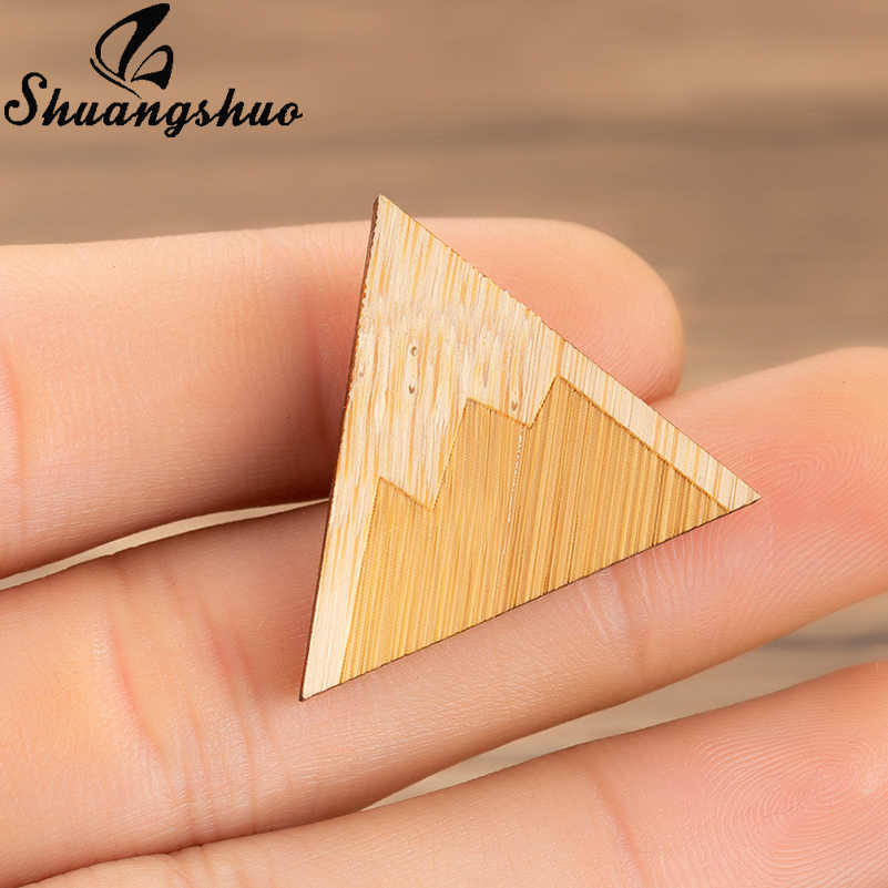 Shuangshuo Vintage Triangle Brooches Pin For Women Snow Mountain Broches Pins Jewelry Enamel Hat Badges Kids Accessories Gift