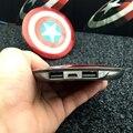 Для всех мобильных телефонов с Пакет Внешняя Батарея Мстители Капитан Америка Щит Power Bank Зарядное Устройство USB зарядное устройство