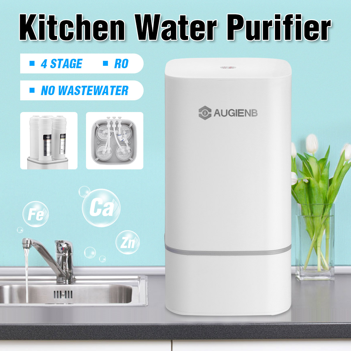 4 Countertop Ro Water Purifier Membrane Reverse Osmosis Water Filter System Technology Kitchen Type Household Use Water Filters Aliexpress