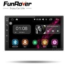 FUNROVER 2 Din Android 8.0 Car dvd Radio player 7 Pollici Universale Quad Core Lettore Multimediale Dell'automobile di GPS di Navigazione audio stereo RDS