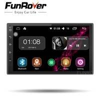FUNROVER 2 Din Android 8.0 Car dvd Radio player 7 Inch Universal Quad Core Car Multimedia Player GPS Navigation audio stereo RDS