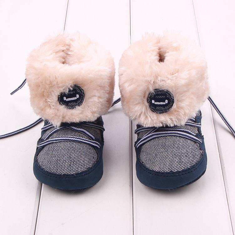 Baby Winter warme Schnee Stiefel Canvals Lace Up weiche Sohle Schuhe - Babyschuhe - Foto 2
