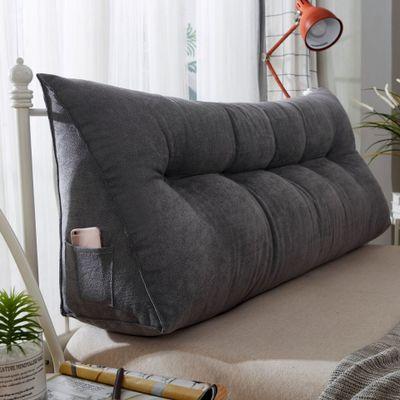 60x50 cm solide en peluche coton Wedge oreiller pour lit dossier coussin lavable grande taille soutien coussin décor à la maison chevet oreiller