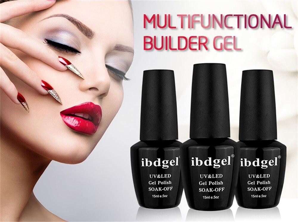3 шт ibdgel builder УФ Гель лак для наращивания ногтей светодиодный