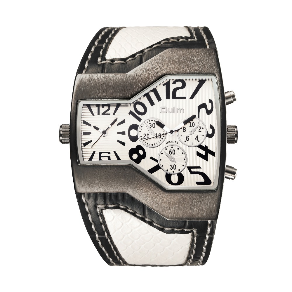 Big Face - double Wristwatch w/ Leather Strap 2