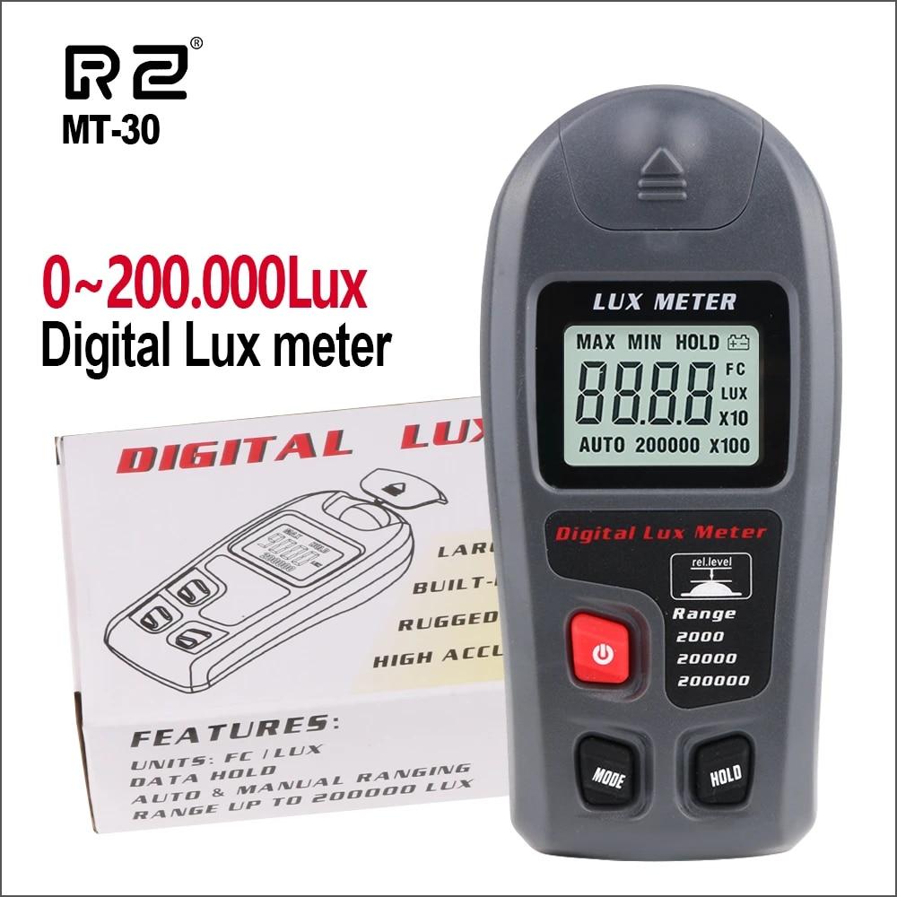 WXQ-XQ Digital Lux Meter 200000 Lux LED Light Luxmeter Spectra Tester Auto Range Precision Lux FC Filter Lense Digital Illuminometer Electronic testing equipment