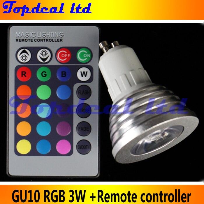 GU10 LED Light Bulb With 24key Remote Controller Magic