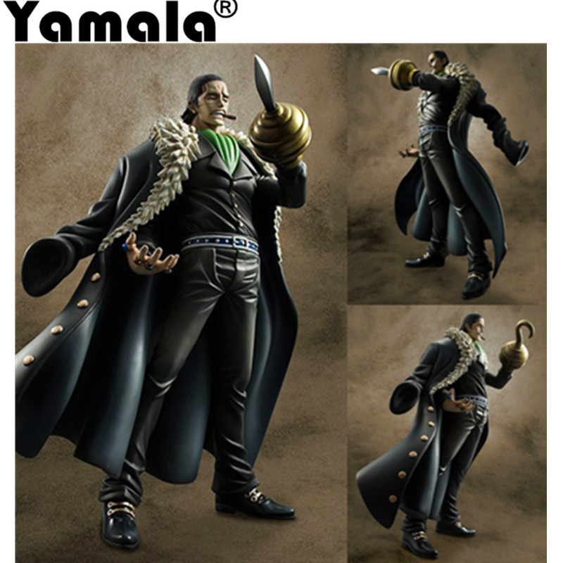 [Yamala] One Piece Anime Action Figure Sir Crocodile Japanese Cartoon Figures Sand Devil Fruit PVC Pop Figure Toys Model 25cm