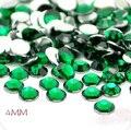 Atacado verde esmeralda 4mm 10000 pcs DIY Prego Celular Art Vara Circular Natator Imitado Resina Broca 004009023