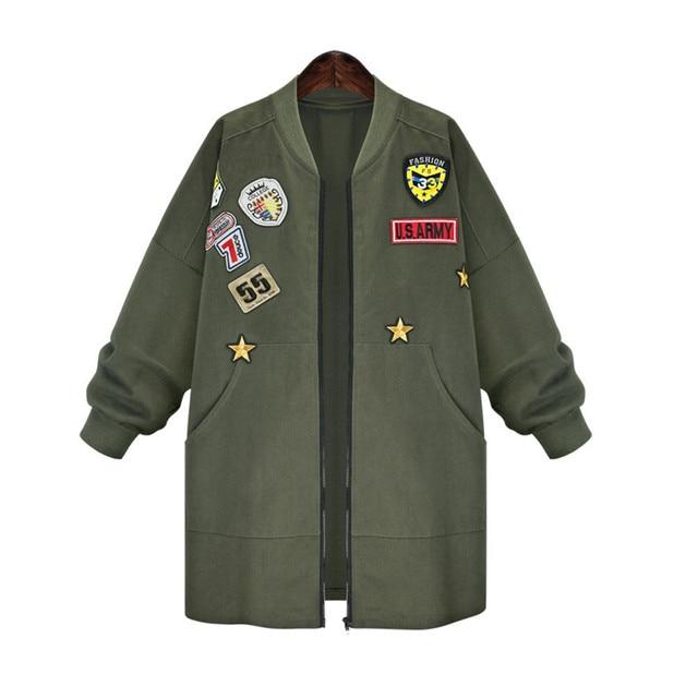 Kenancy Più Il Formato 5XL Bomber Cappotto del Rivestimento Delle Donne di  Autunno della Molla Manica 82293a9ac59