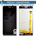 1pcs Original Gold/Black LCD+TP For Highscreen Power ICE LCD Display with Touch Screen Digitizer Assembly Smartphone Replacement