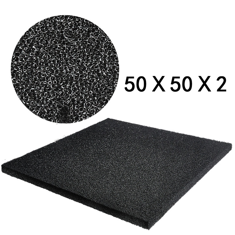 Hot Sale Black Aquarium Bio Filtration Foam Fish Tank Biochemical Filter Sponge Pad Light And Softness Design 50x50x2cm