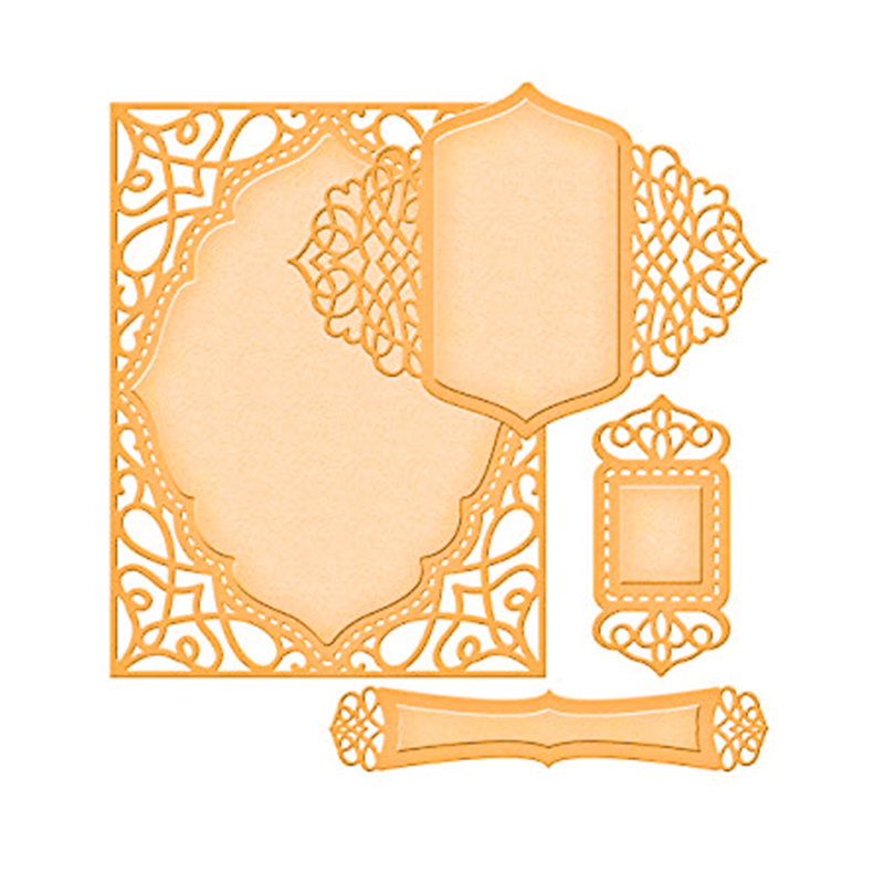 YaMinSanNiO Frame Metal Cutting Die Background New Cutting Dies for Scrapbooking Template Card Making Embossing Craft Decorative in Cutting Dies from Home Garden