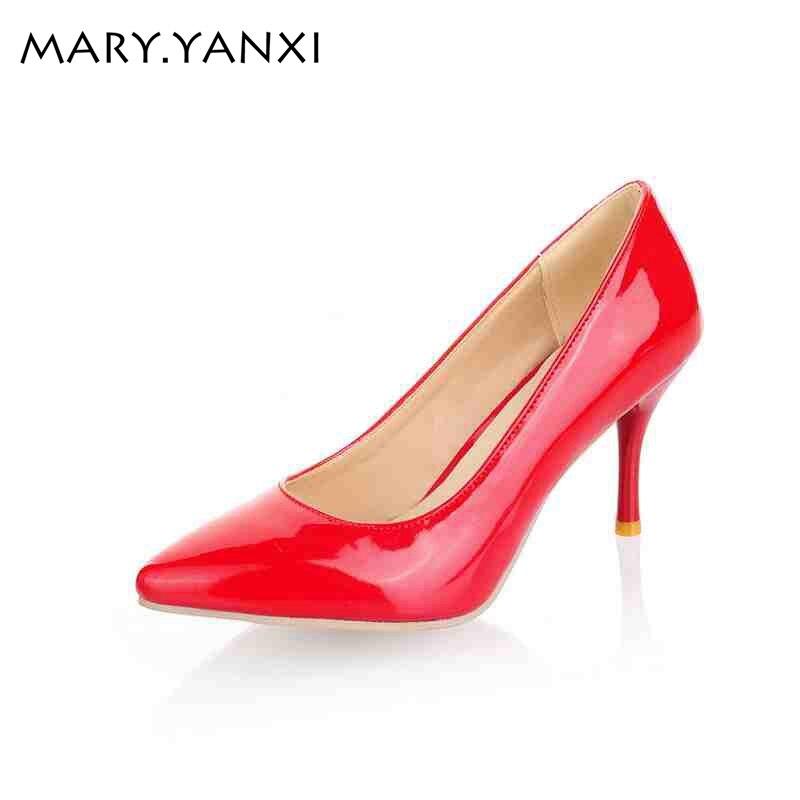 Grande Taille 34-47 femmes chaussures pompes Élégantes De Mode Escarpins haute mince talons femmes pompes bureau carrière femmes travail pompes chaussures