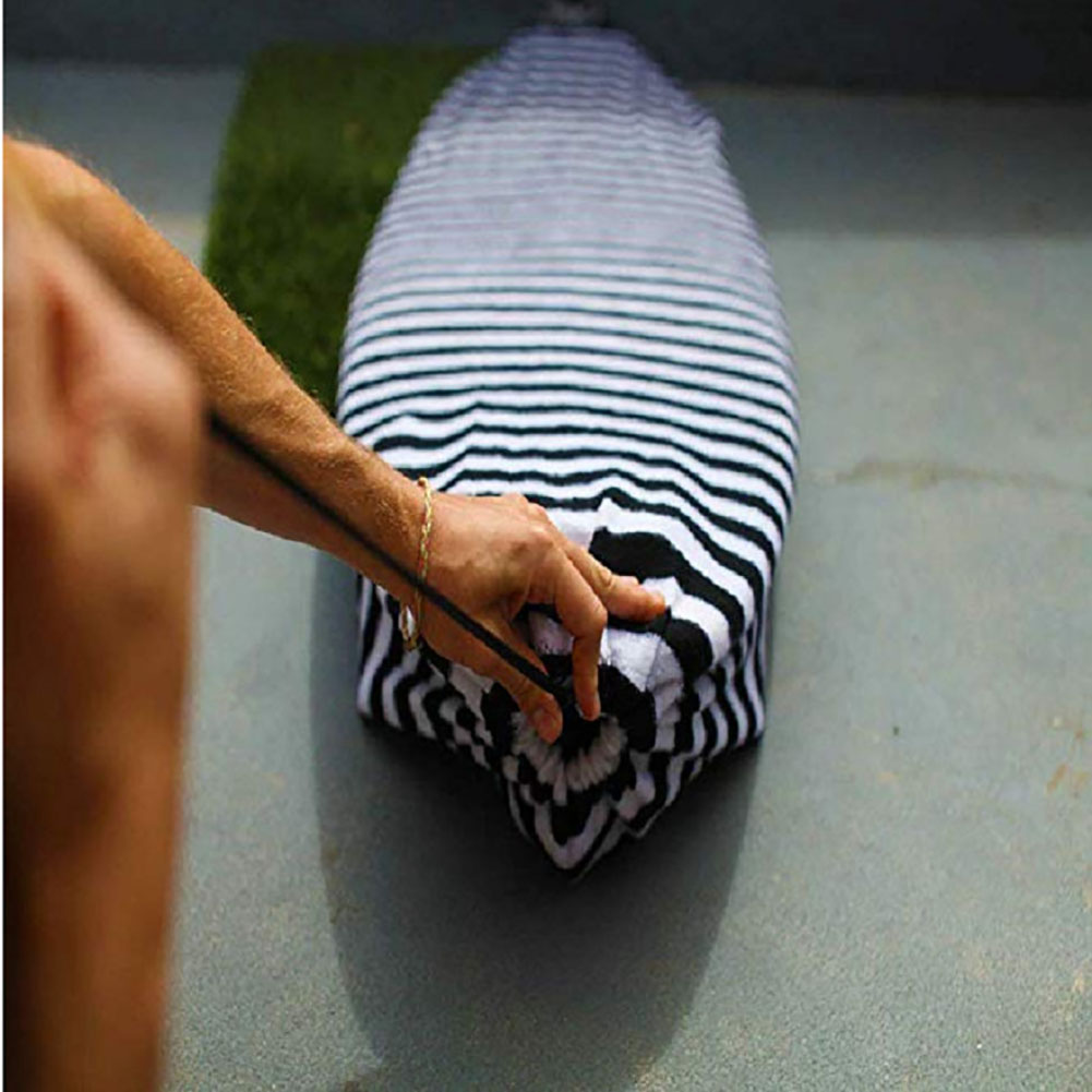 Surfboard Socks Anti-scratch Water Outdoor Stripes Protective Bag Stretch Surfing Sports Sunproof Portable Drawstring Cover
