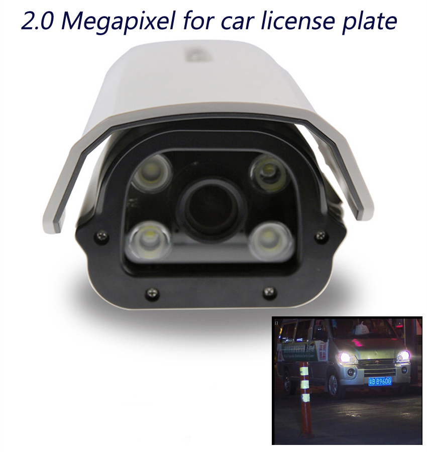 1080P Outdoor Car License Plate Camera 2MP Bullet IP Camera Zoom 2.8-12mm White Light LED WDR Manual Varifocal CCTV Camera wistino cctv camera metal housing outdoor use waterproof bullet casing for ip camera hot sale white color cover case