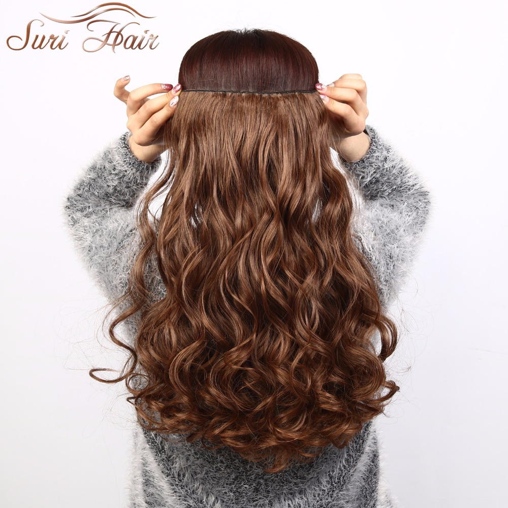 Suri Hair 24 inches 5Clips i Hair Extensions Bouncy Curly Real - Syntetiskt hår - Foto 1