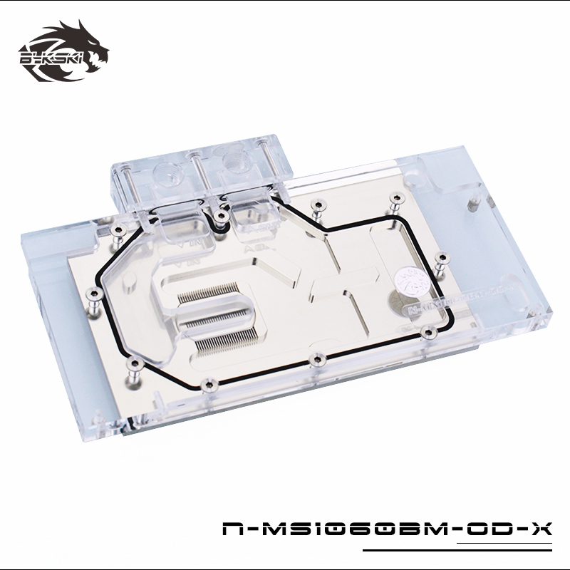 BYKSKI Full Cover Water Block use for Palit GTX1060 Super JetStream / GTX 1080 Dual 8GB/1070TI Dual GPU Copper Block RGB|Fluid DIY Cooling| |  - title=