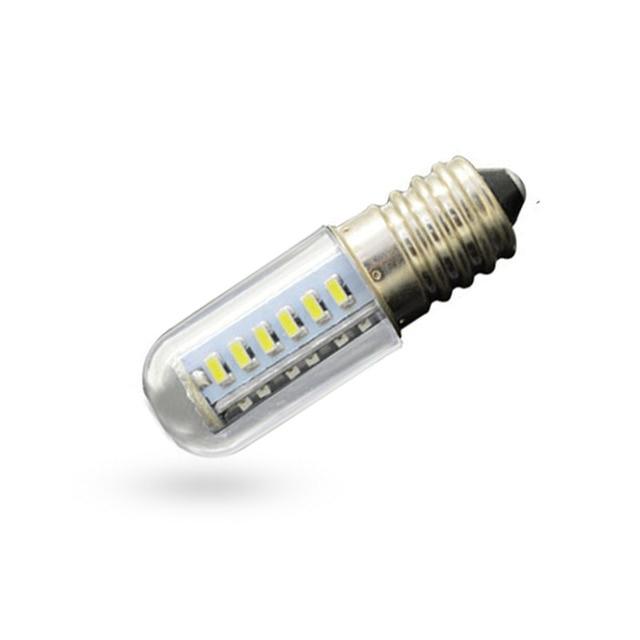 1x Mini E14 LED كريستال ضوء المصباح SMD5050 1.5 واط 3 واط 5 واط 7 واط التيار المتناوب 220 فولت شمعة لمبة بتصميم على شكل كوز الذرة غطاء فوق البوتاجاز لإخراج الأدخنة أضواء الثلاجة الثلاجة ضوء