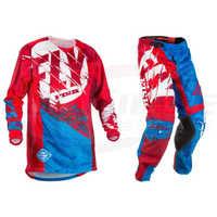 Fly Fish Motocross MX Racing Suit Pants & Jersey Combos Moto Dirt Bike ATV Gear Set Red/Black