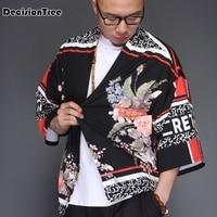2019 summer men high qualiyt cotton linen long china style kongfu coat male loose kimono cardigan overcoat