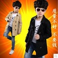 688# 2015 high quality fashion design boys trench for autumn