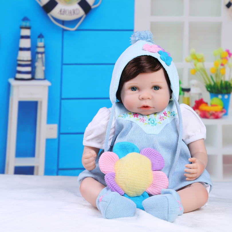 55cm Silicone reborn baby girl doll toy like real newborn toddler princess babies doll bebe reborn girls bonecas lovely child gi 55cm silicone reborn baby doll toy lifelike newborn toddler princess babies doll with bear girls bonecas birthday gift present