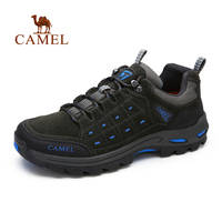 Camel Men S Shoes Outdoor Hiking Walking Shoes Spring And Summer New Frosted Leather Low To