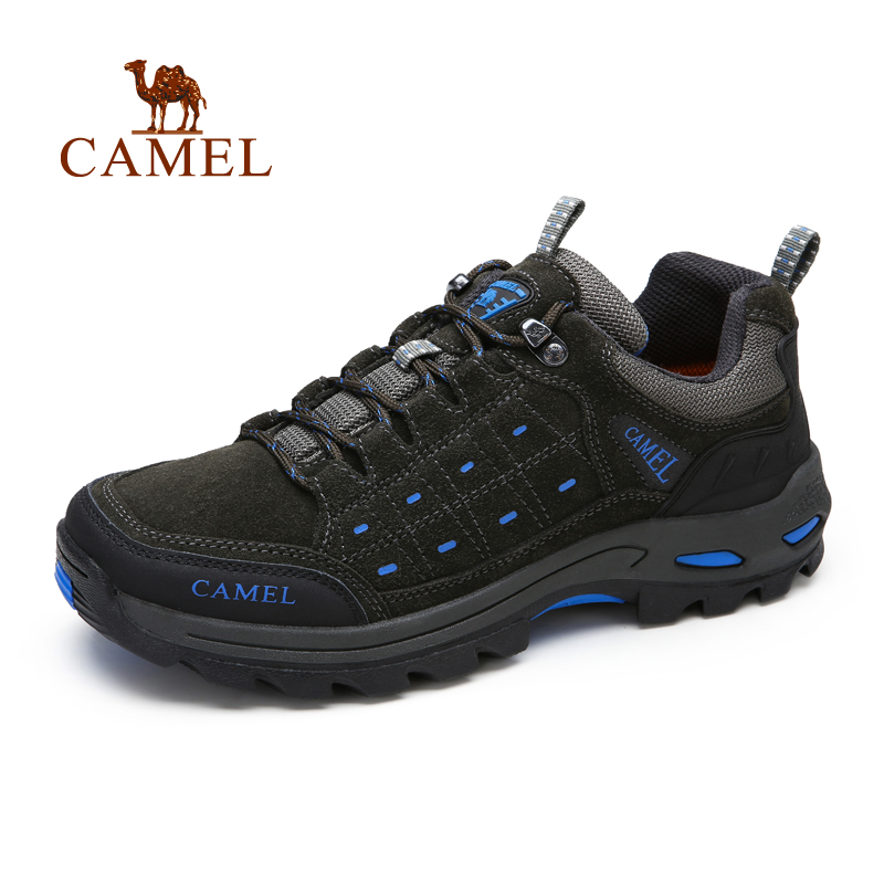 Camel men's shoes outdoor Hiking walking shoes spring and summer new frosted leather low to help wearable shoes A532303265-026 2017 spring and summer new leather men leisure low to help peas shoes soft and comfortable sets of feet driving shoes