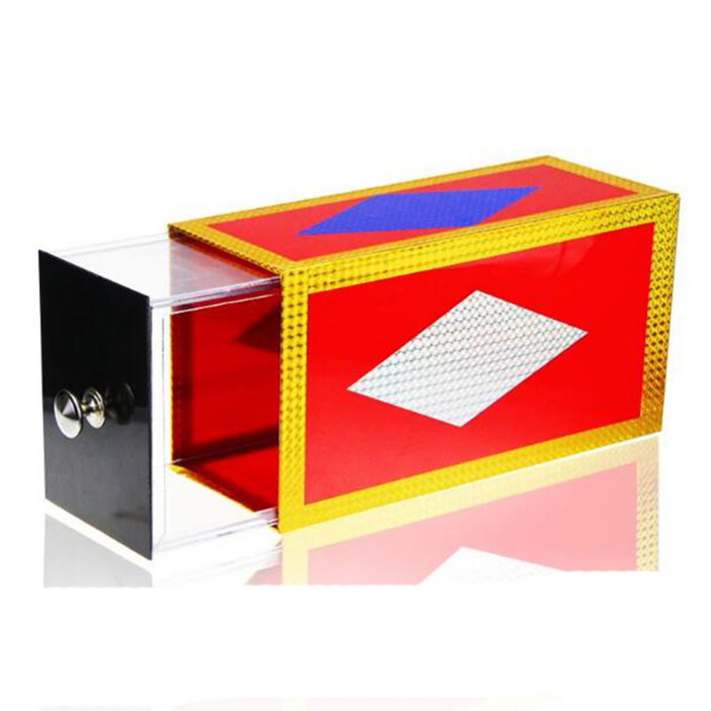 magic wooden box with extra secure secret drawer Drawer Box transparent box stage easy to do Magic Tricksperformance magician props  illusion props 83137