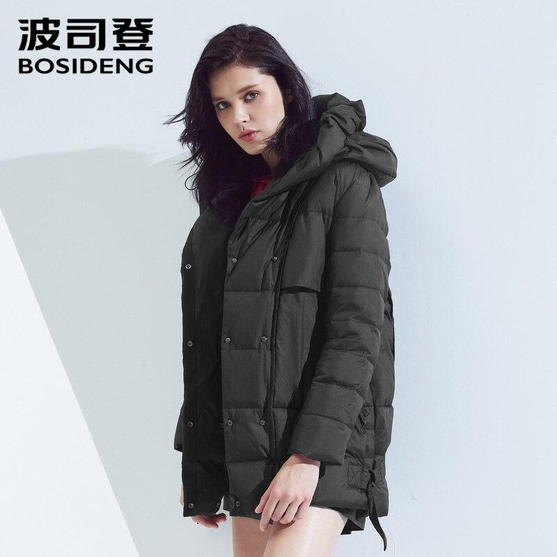 Bosideng 다운 재킷 여성 짧은 단락 성격 두꺼운 섹션 따뜻한 가을과 겨울 후드 재킷 b80131102-에서다운 코트부터 여성 의류 의  그룹 1